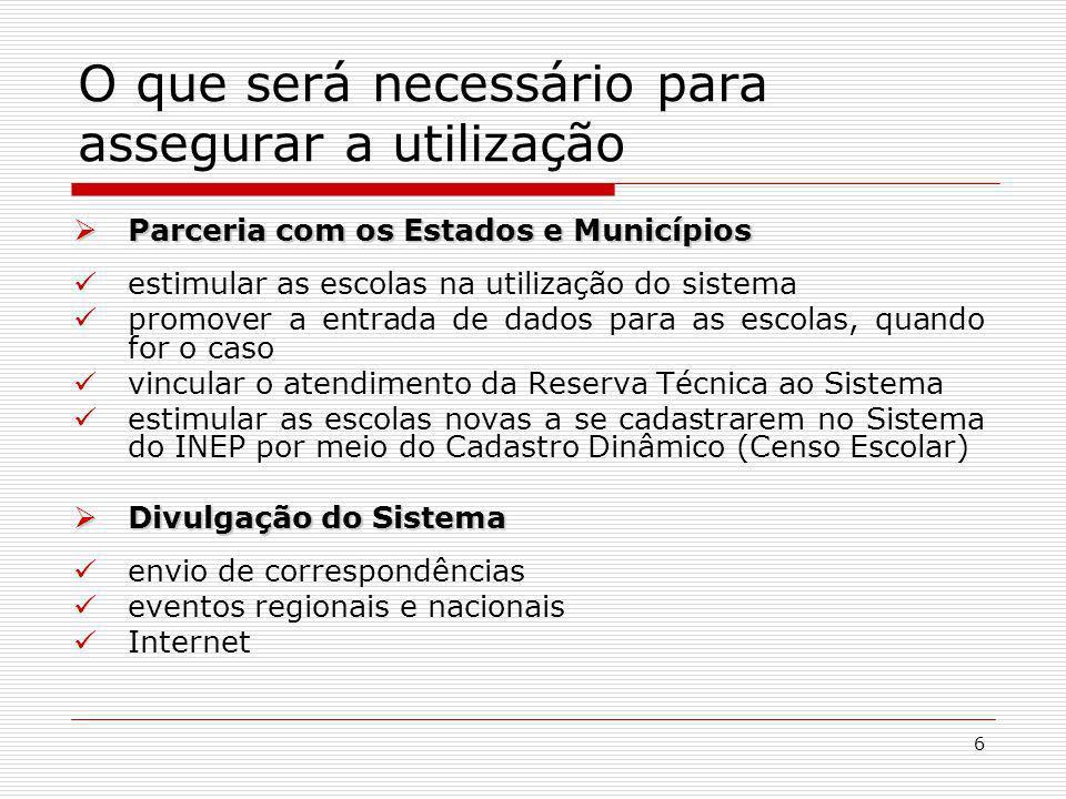 7 Menus do Siscort Apresentação: disponibiliza informações sobre o sistema e está dividido em três itens: Finalidade, Objetivos e Vantagens.