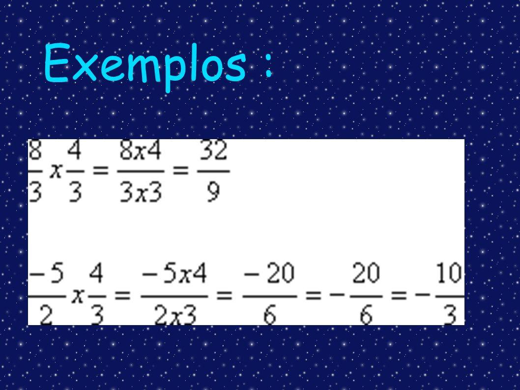 Divisão com Números Racionais na forma fracionária Na divisão de números racionais, devemos multiplicar a primeira fração pelo inverso da segunda