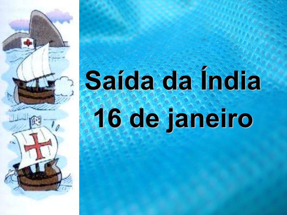 Saída da Índia 16 de janeiro