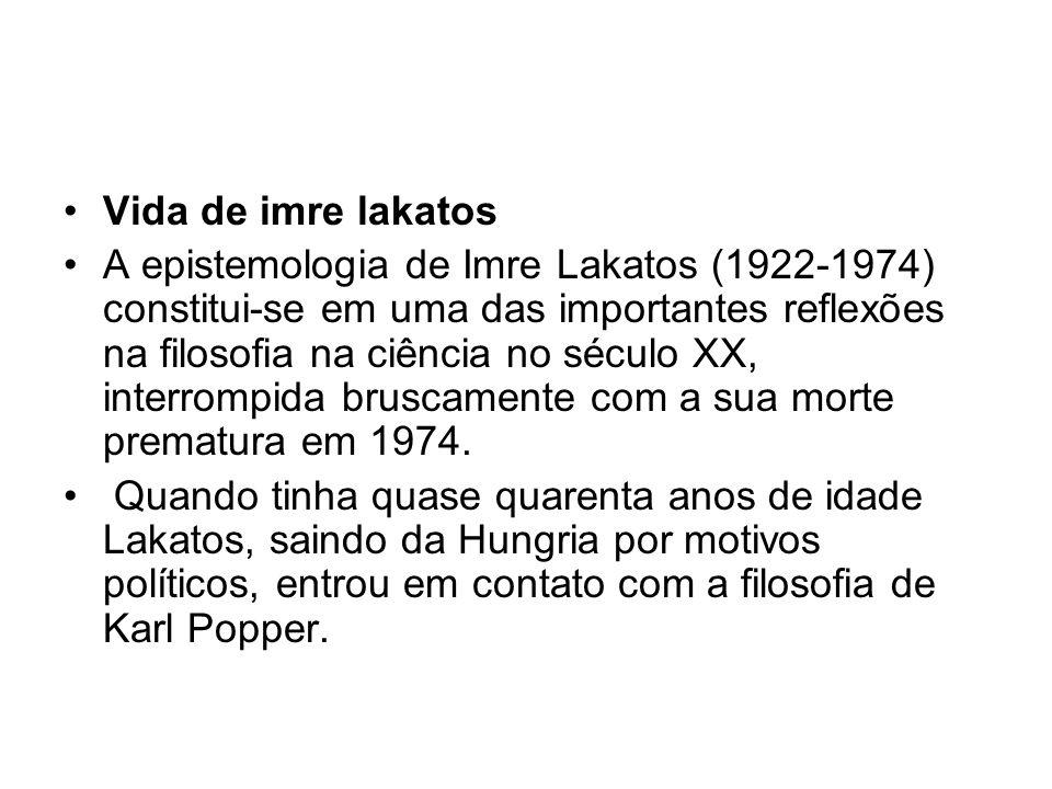 Vida de imre lakatos A epistemologia de Imre Lakatos (1922-1974) constitui-se em uma das importantes reflexões na filosofia na ciência no século XX, i