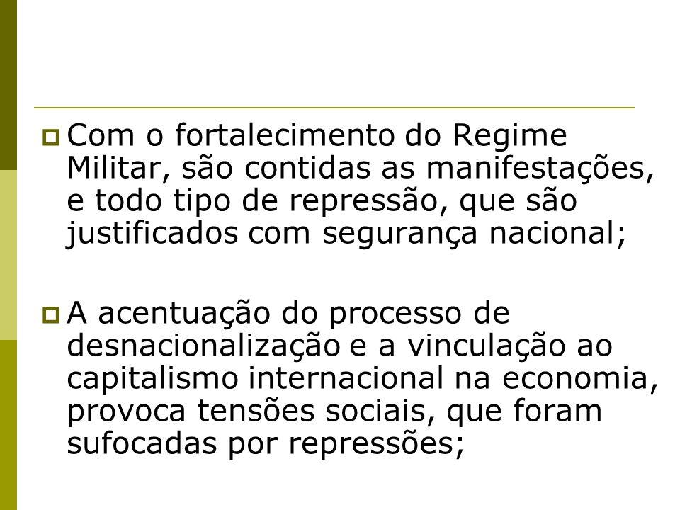 A partir de 1978 com os movimentos populares surgidos na sociedade civil passaram a exigir a abertura política e o retorno ao estado de legalidade, como por exemplo, a campanha das chamadas Diretas Já.