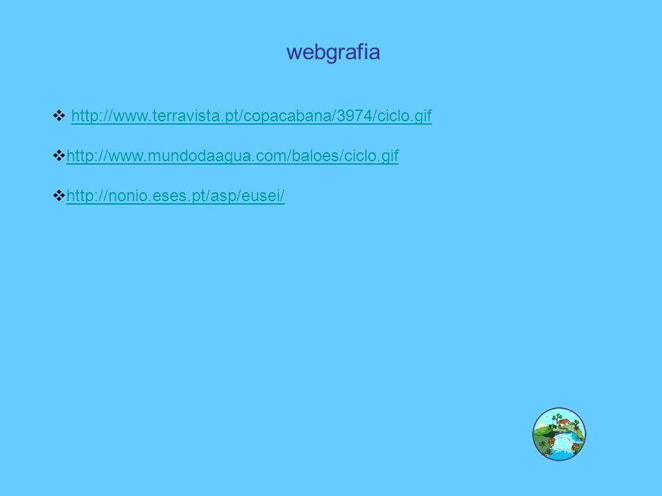 webgrafia http://www.terravista.pt/copacabana/3974/ciclo.gif http://www.mundodaagua.com/baloes/ciclo.gif http://nonio.eses.pt/asp/eusei/