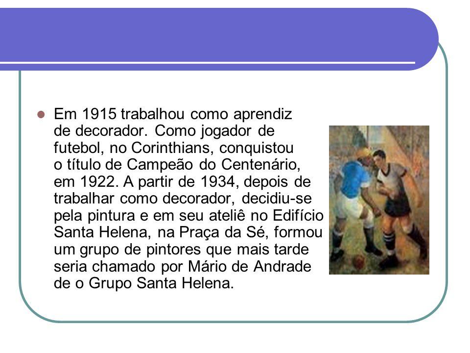 Sua Vida Em 1915 trabalhou como aprendiz de decorador. Como jogador de futebol, no Corinthians, conquistou o título de Campeão do Centenário, em 1922.