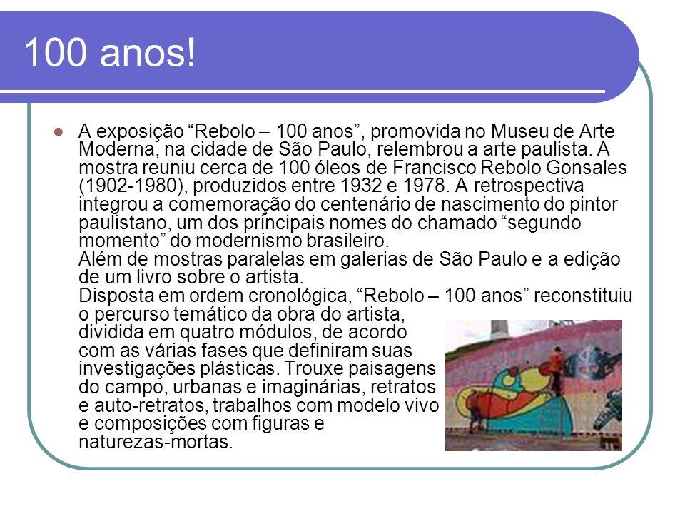 100 anos! A exposição Rebolo – 100 anos, promovida no Museu de Arte Moderna, na cidade de São Paulo, relembrou a arte paulista. A mostra reuniu cerca