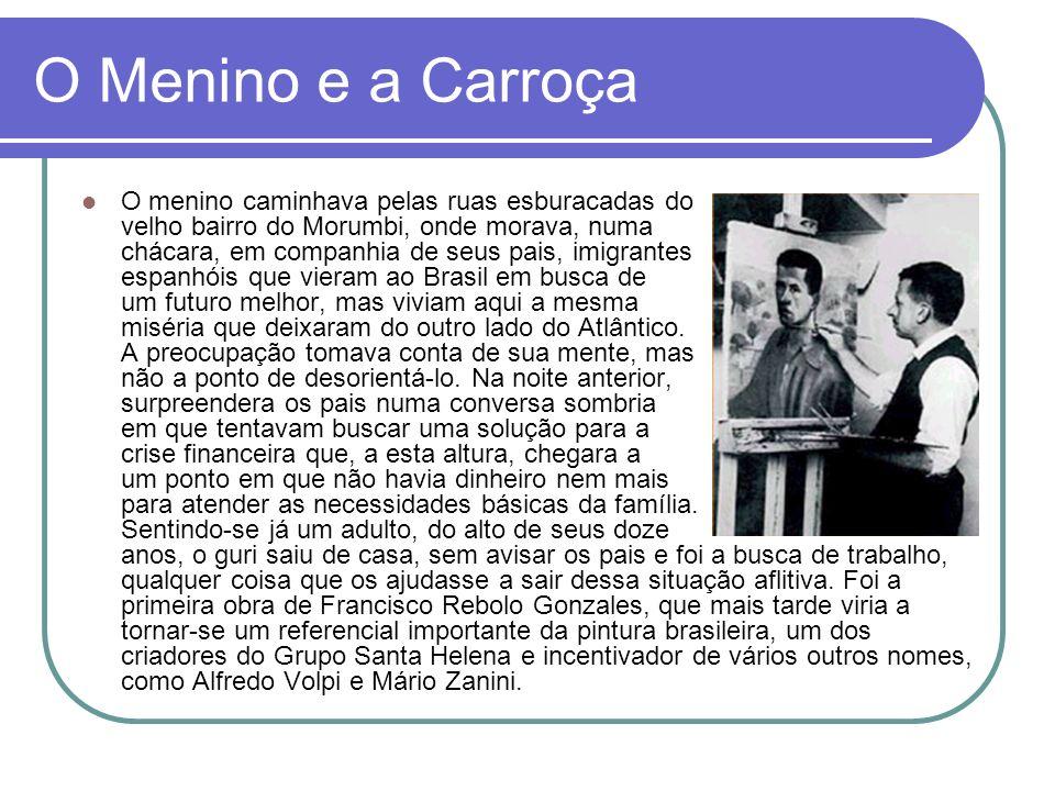 Estilos de Rebolo Desde o começo da carreira artística, Rebolo foi considerado pela melhor crítica do período (Mário de Andrade, Sérgio Milliet e outros intelectuais) um dos mais importantes paisagistas da pintura nacional.