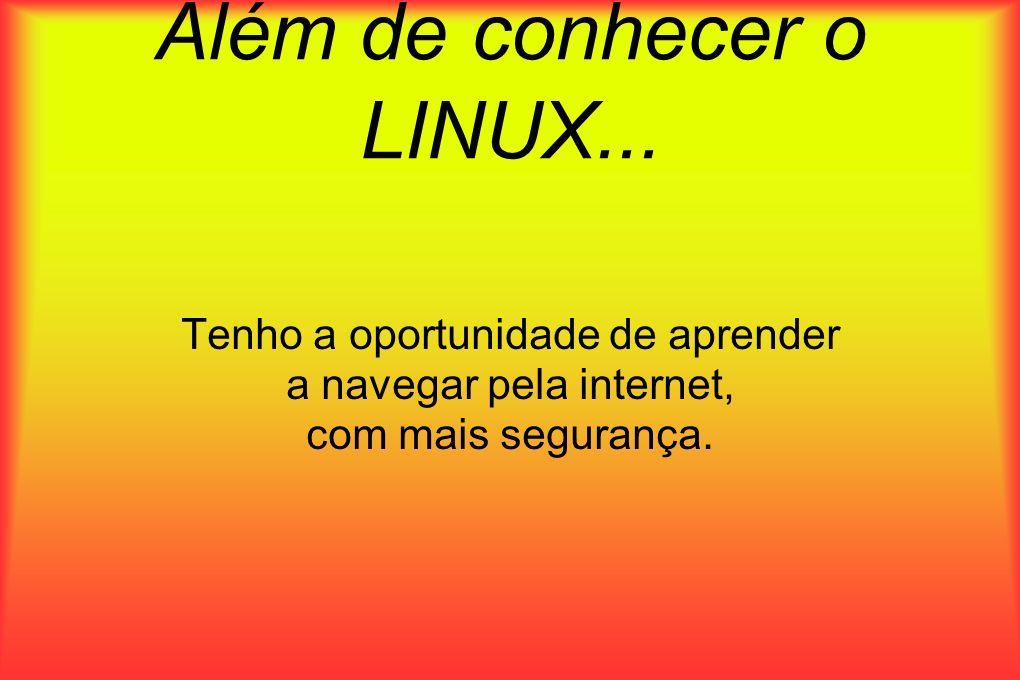 Além de conhecer o LINUX...