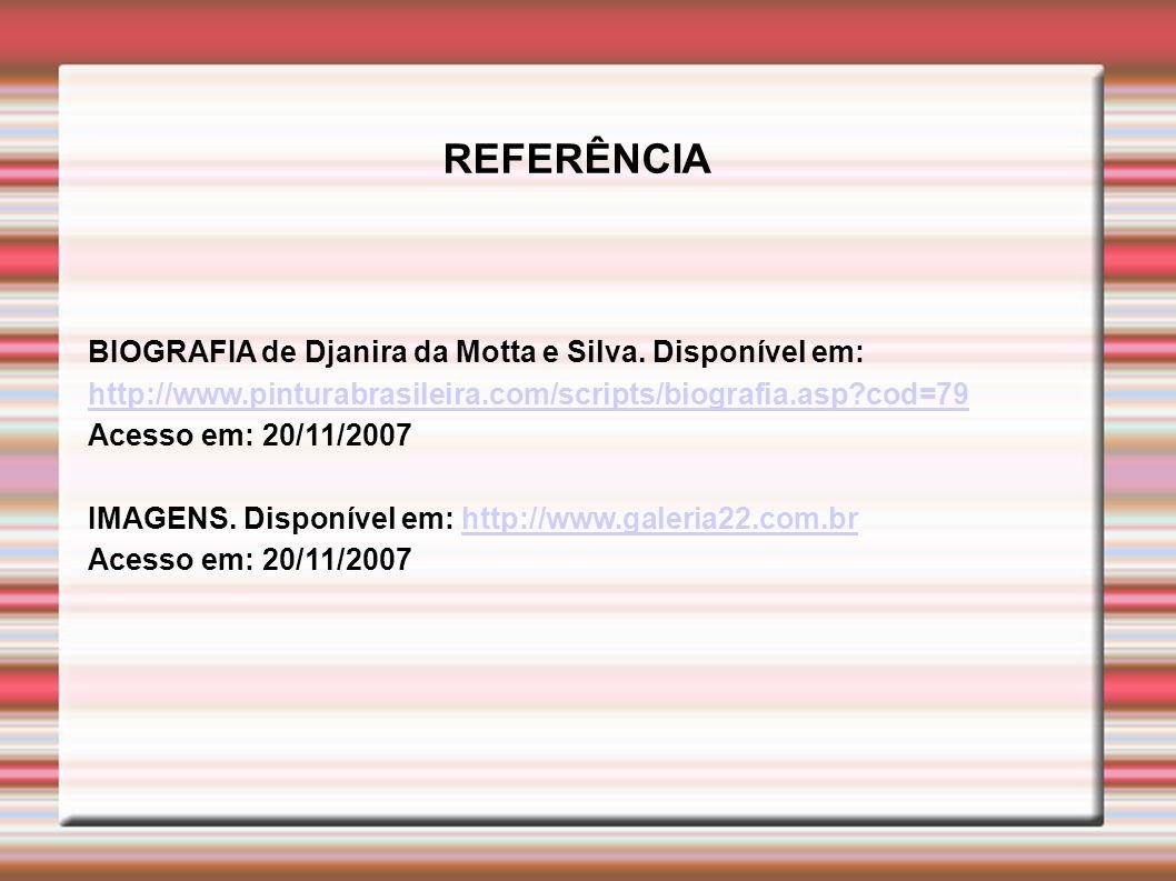 BIOGRAFIA de Djanira da Motta e Silva.