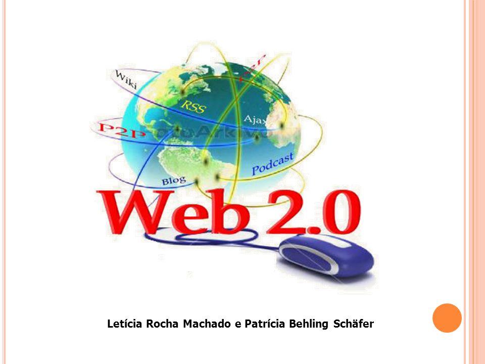 Web 1.0 Textos com hiperlinks para outros textos, figuras, animações e vídeos Transmissão de informações Espectador Maioria dos serviços eram pagos