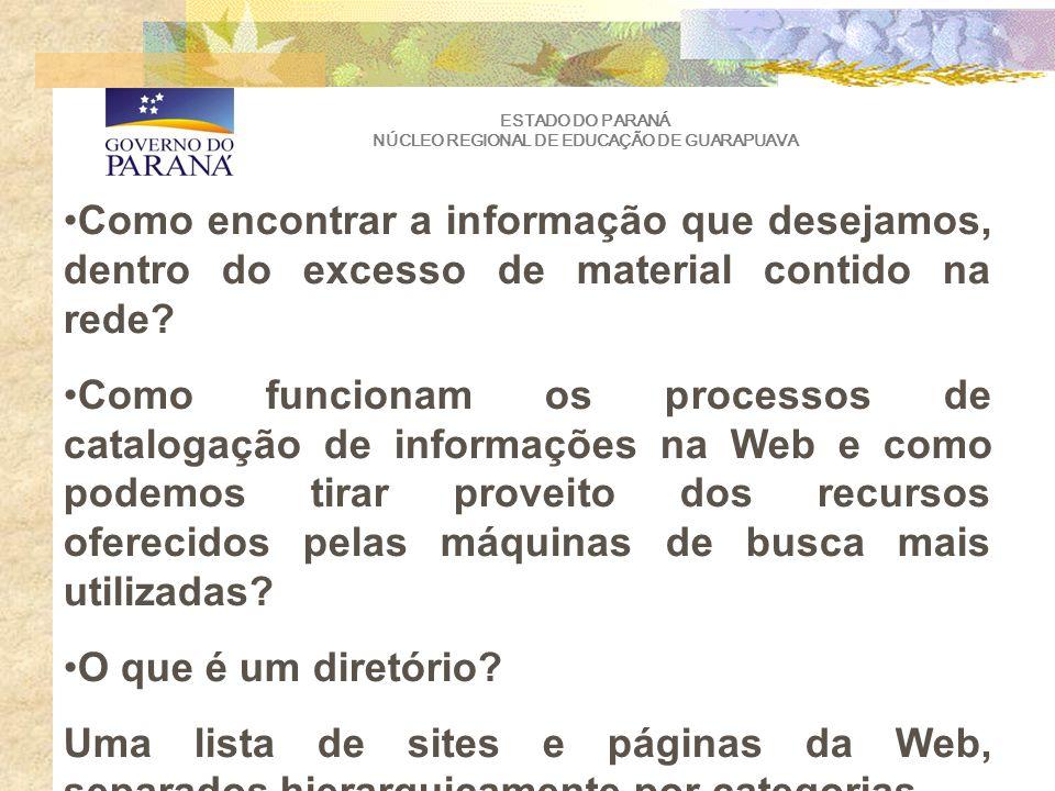 ESTADO DO PARANÁ NÚCLEO REGIONAL DE EDUCAÇÃO DE GUARAPUAVA