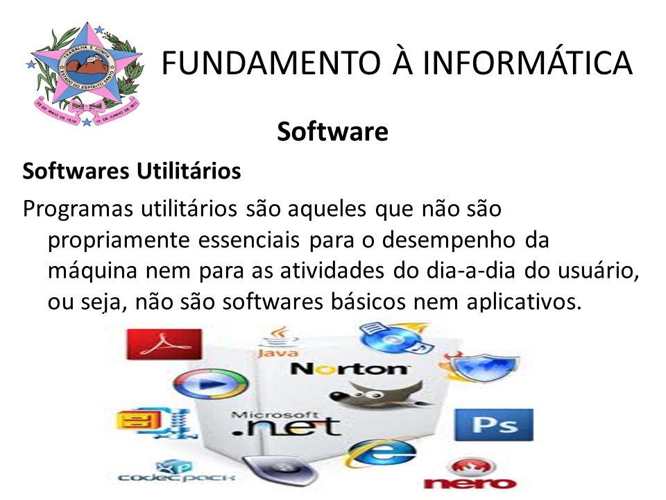 Software Softwares Utilitários Programas utilitários são aqueles que não são propriamente essenciais para o desempenho da máquina nem para as atividad