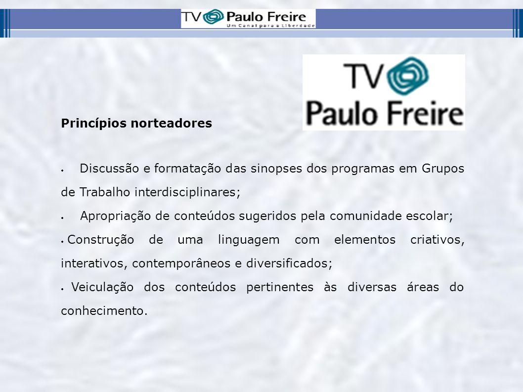 Divulgação A TV PAULO FREIRE utilizará mídias impressas, radiofônicas, televisivas e web para divulgar seus programas.