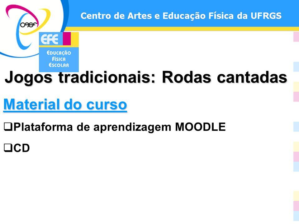 Material do curso Plataforma de aprendizagem MOODLE CD Jogos tradicionais: Rodas cantadas