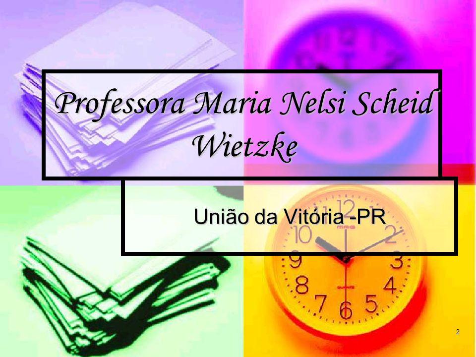 2 Professora Maria Nelsi Scheid Wietzke União da Vitória -PR