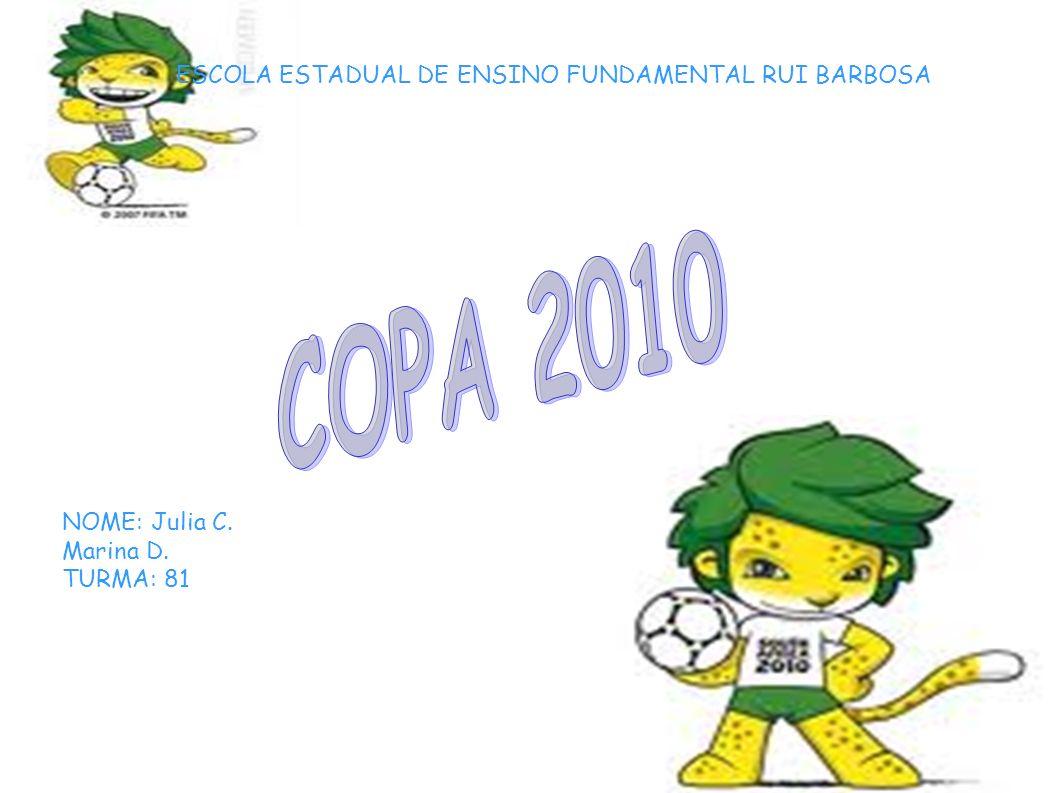 Curiosidades A Adidas Jabulani é a bola oficial do Mundial de 2010 na África do Sul.