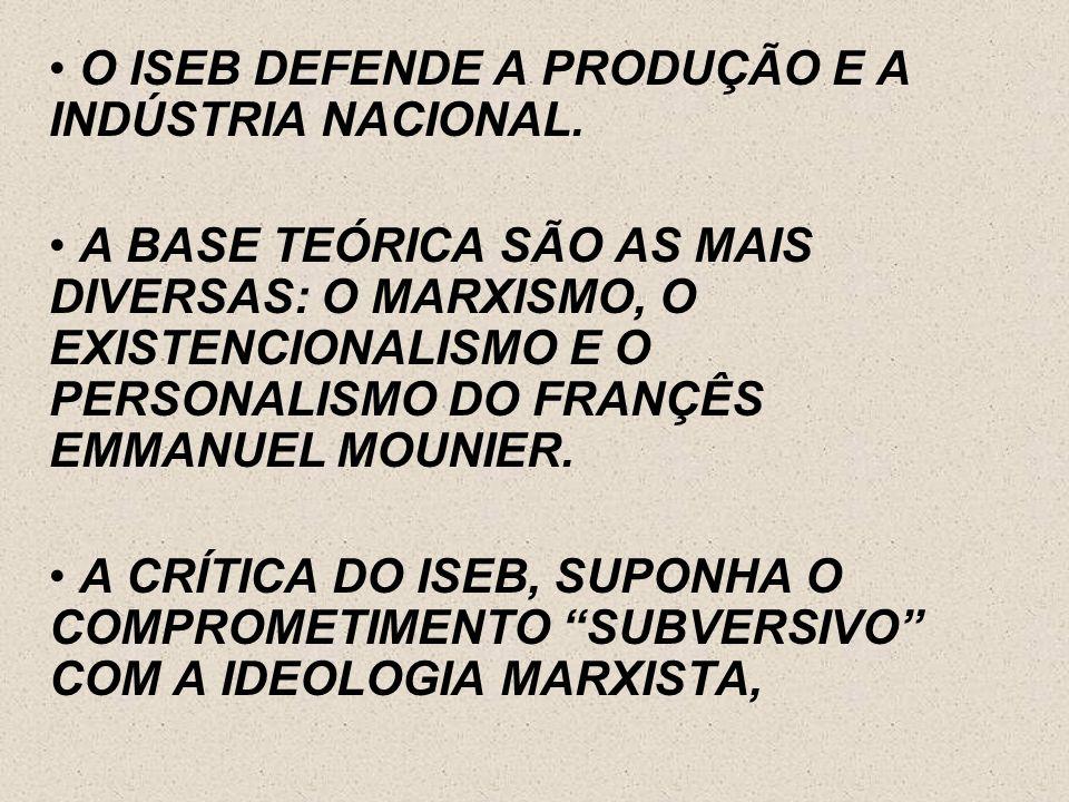 O INSTITUTO SE PROPÕE Á TAREFA DE REPENSAR A CULTURA BRASILEIRA AUTÔNOMA, NÃO ALIENADA, ROMPENDO A TRADIÇÃO COLONIAL DE TRANSPLANTE CULTURAL. SEGUNDO