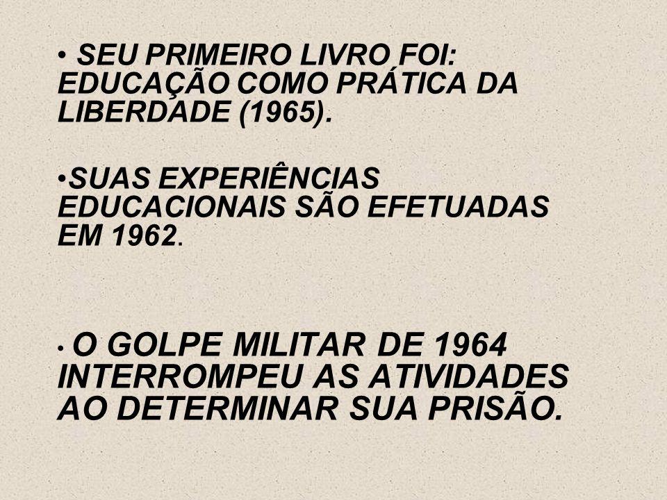 PAULO FREIRE É UM DOS GRANDES PENSADORES DA ATUALIDADE. CONTRIBUIU PARA A EDUCAÇÃO POPULAR. PAULO FREIRE É CRISTÃO, SEU CRISTIANISMO, SE EMBASA EM UMA