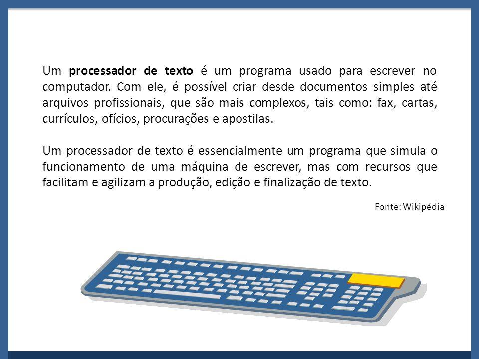 Um processador de texto é um programa usado para escrever no computador. Com ele, é possível criar desde documentos simples até arquivos profissionais