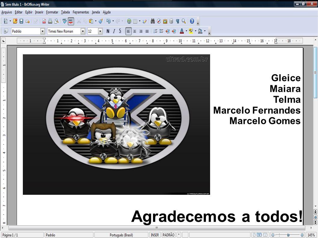 Agradecemos a todos! Gleice Maiara Telma Marcelo Fernandes Marcelo Gomes
