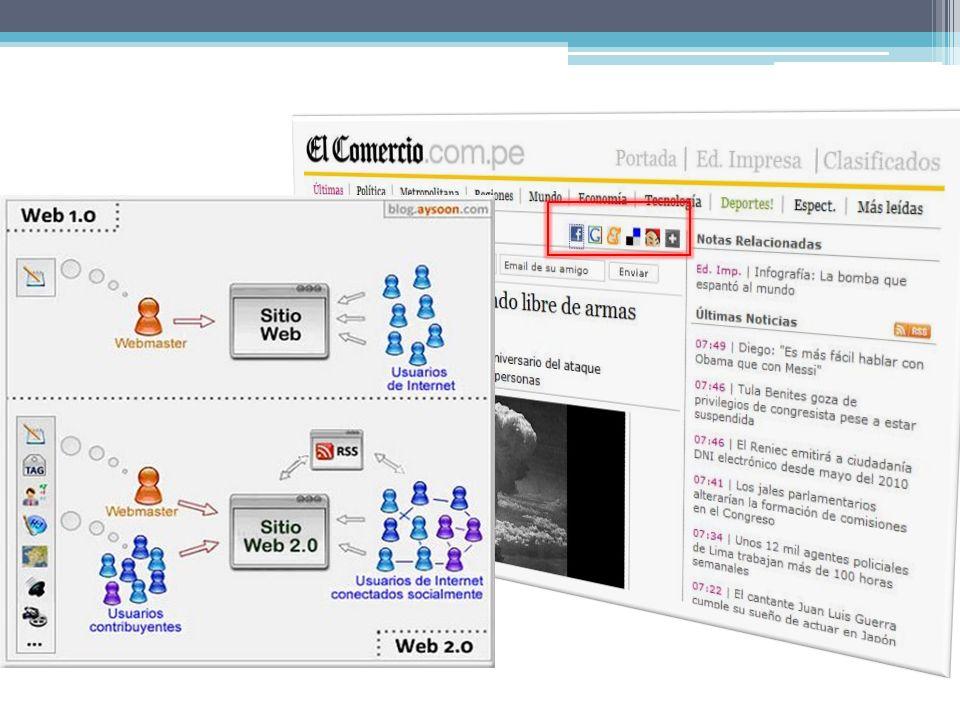 Aspectos chaves da Web 2.0 Convergência de usuarios e mundo empresarial: O Web 2.0 não deixa claro o limite entre uma organização e do mundo real.