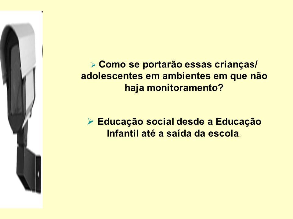 Como se portarão essas crianças/ adolescentes em ambientes em que não haja monitoramento? Educação social desde a Educação Infantil até a saída da esc