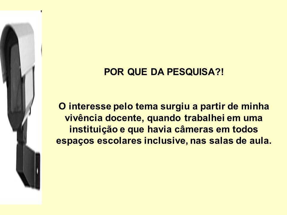 POR QUE DA PESQUISA?.
