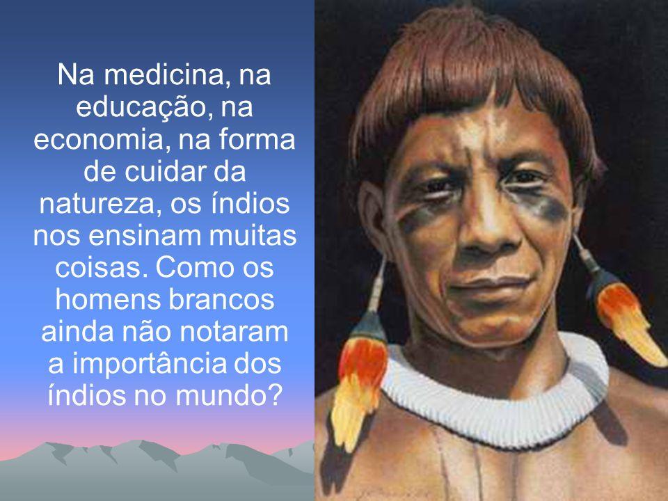 Na medicina, na educação, na economia, na forma de cuidar da natureza, os índios nos ensinam muitas coisas. Como os homens brancos ainda não notaram a