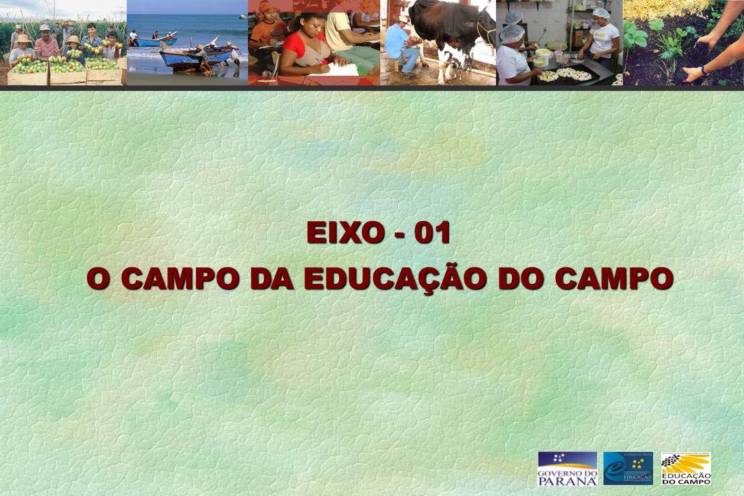 EIXO - 01 O CAMPO DA EDUCAÇÃO DO CAMPO
