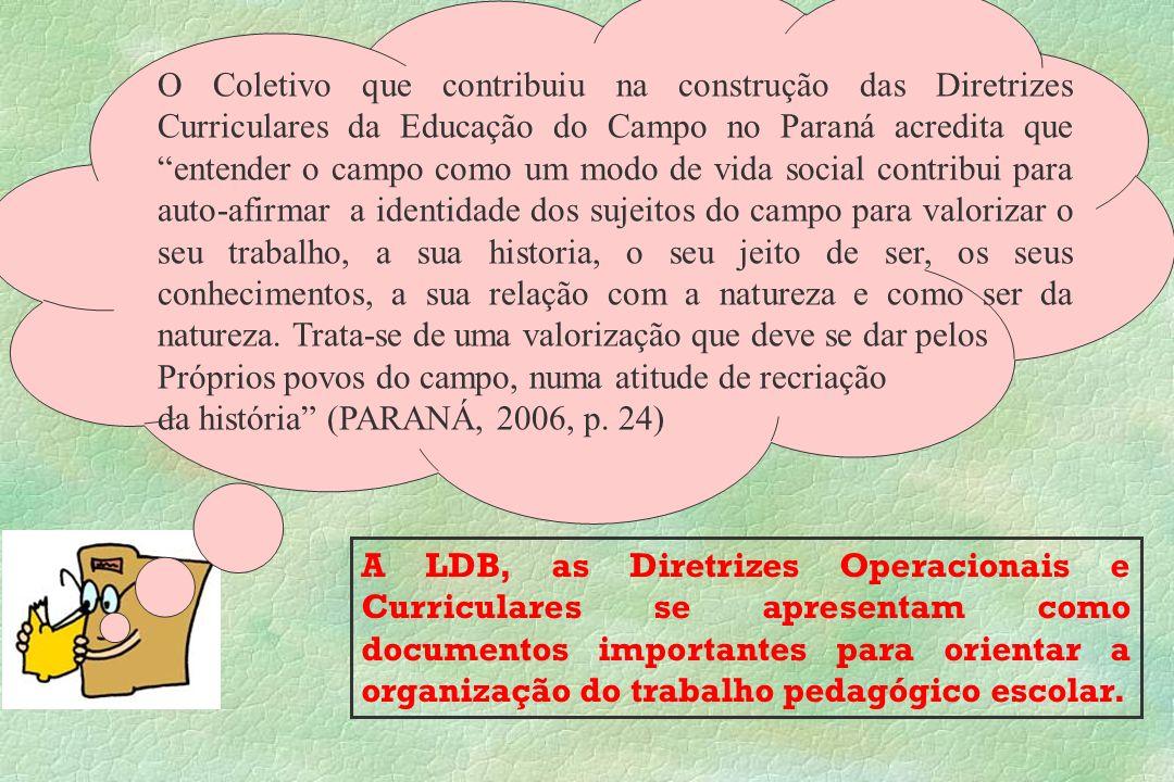 A LDB, as Diretrizes Operacionais e Curriculares se apresentam como documentos importantes para orientar a organização do trabalho pedagógico escolar.