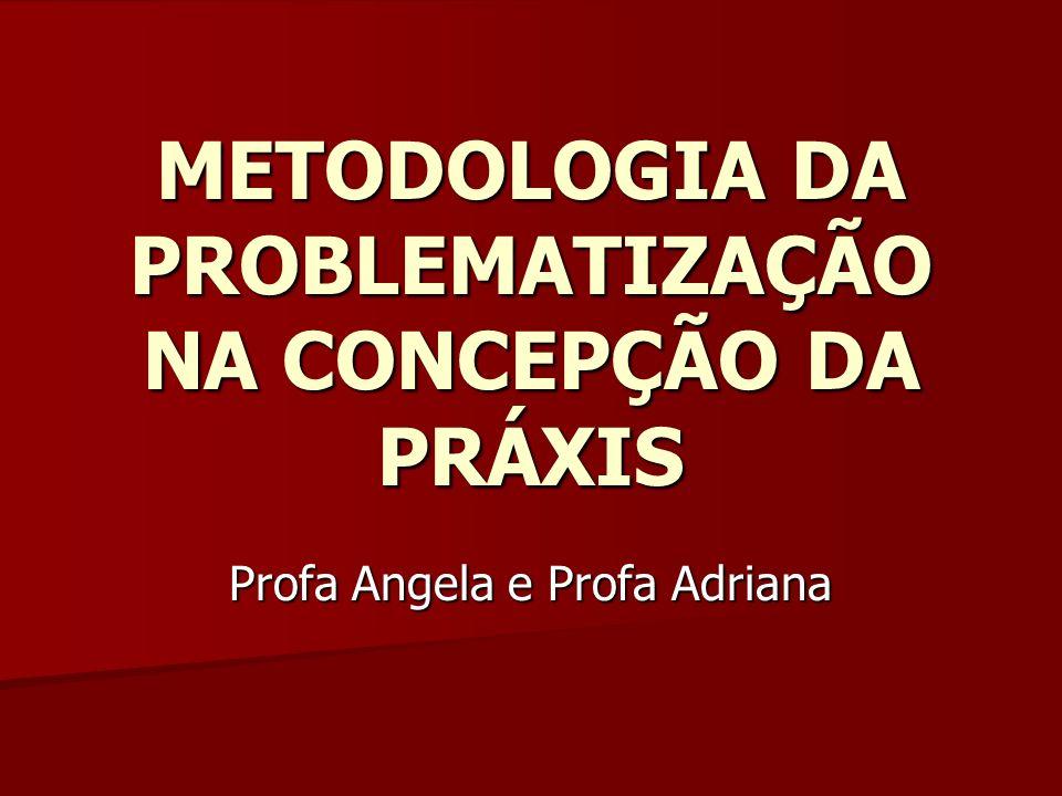 METODOLOGIA DA PROBLEMATIZAÇÃO NA CONCEPÇÃO DA PRÁXIS Profa Angela e Profa Adriana