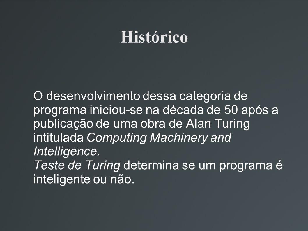 Histórico O desenvolvimento dessa categoria de programa iniciou-se na década de 50 após a publicação de uma obra de Alan Turing intitulada Computing M