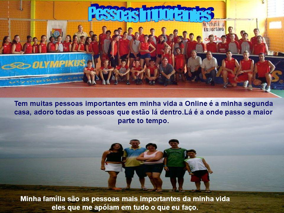 No futuro pretendo ser jogador profissional de vôlei e vestir a camisa da seleção brasileira.