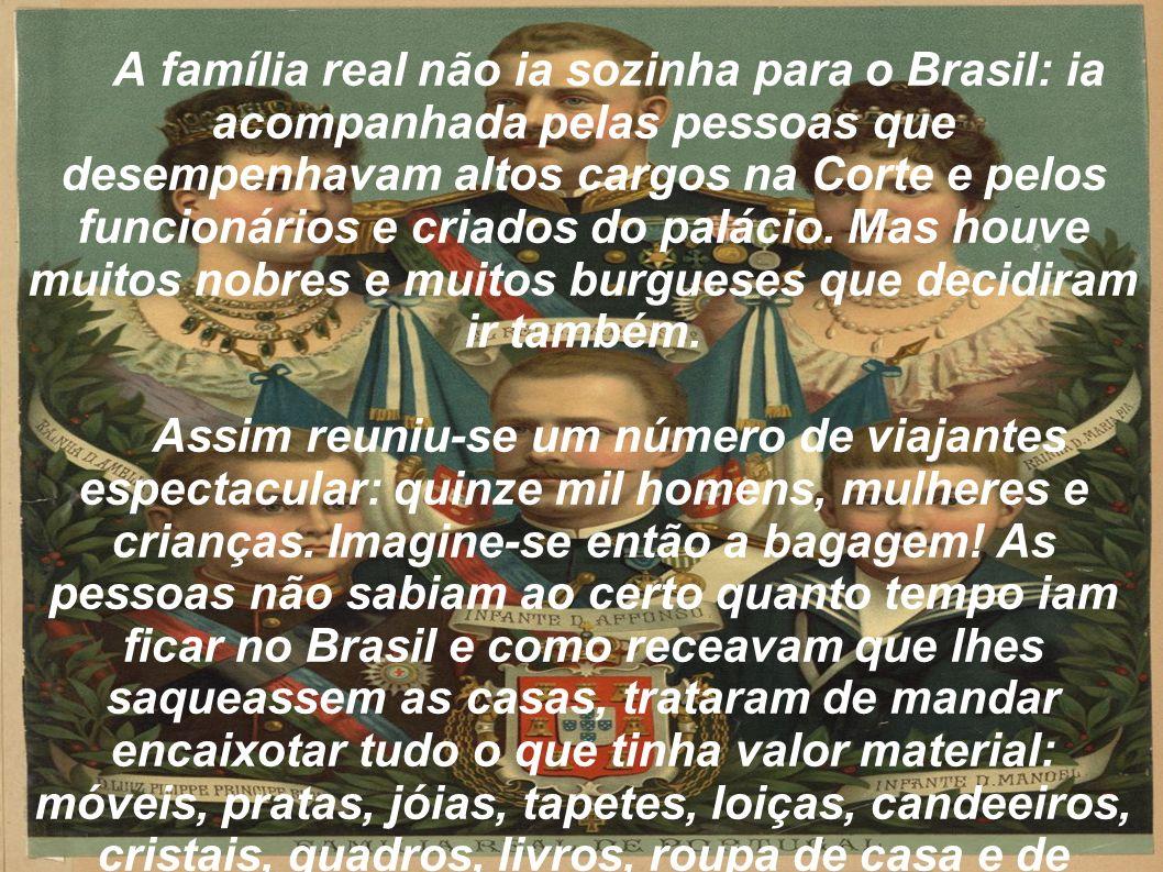 Mudanças Econômicas no Brasil Depois da chegada da família real duas medidas de Dom João deram rápido impulso à economia brasileira: a abertura dos portos e a permissão de montar indústrias que haviam sido proibidas por Portugal anteriormente.