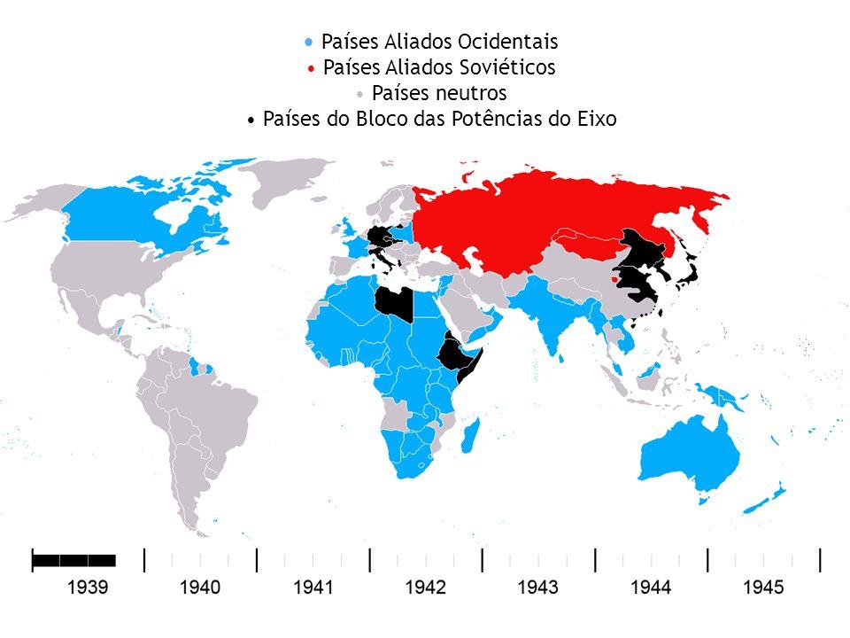 P aíses Aliados Ocidentais Países Aliados Soviéticos Países neutros Países do Bloco das Potências do Eixo