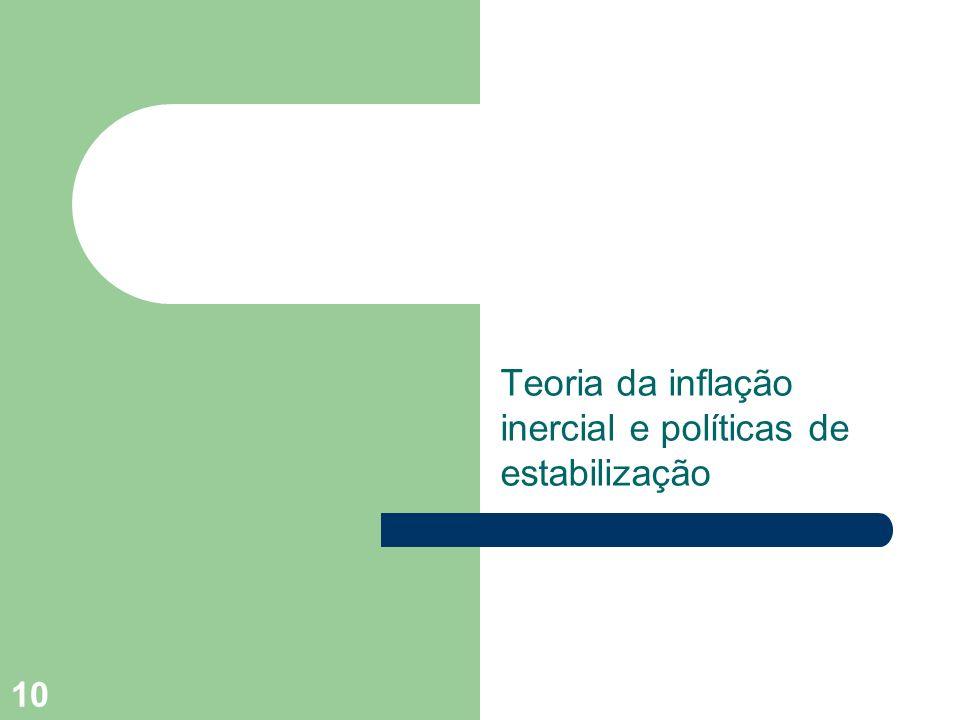 10 Teoria da inflação inercial e políticas de estabilização