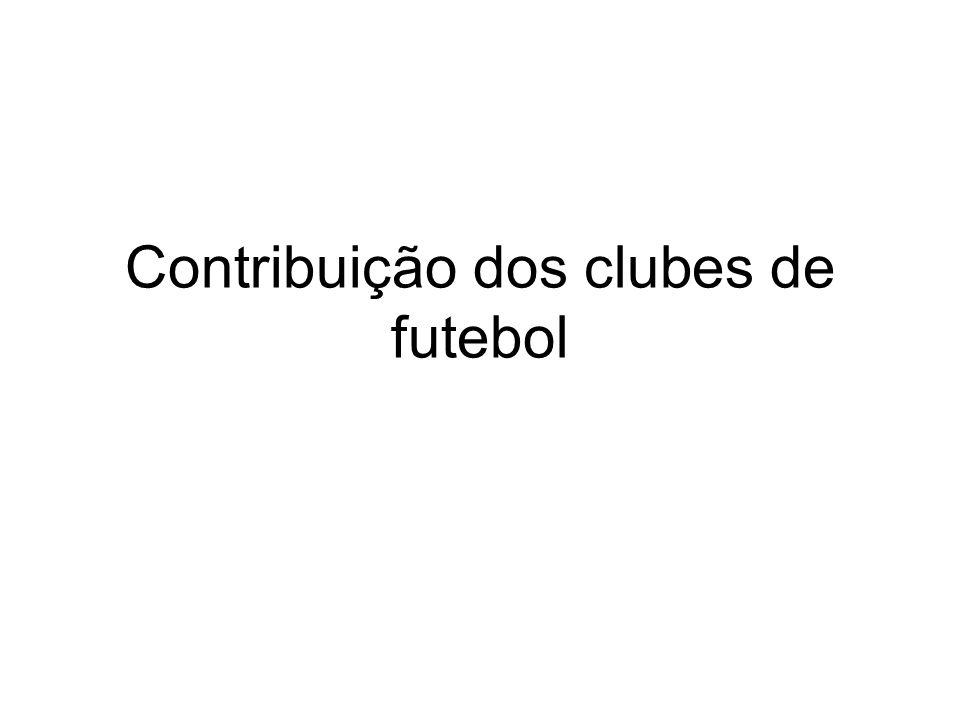 Contribuição dos clubes de futebol