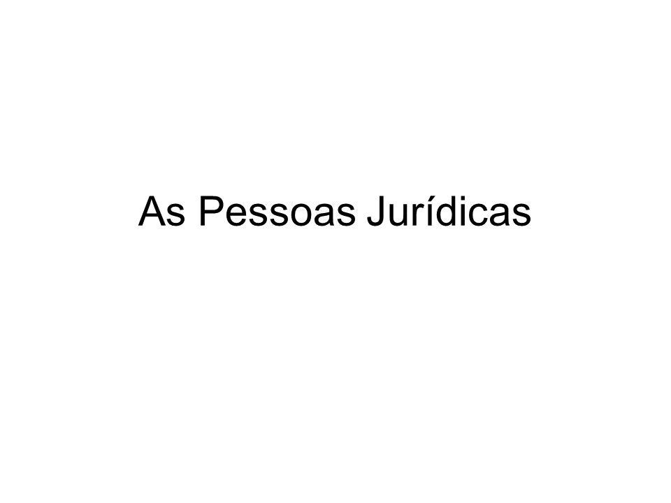 Classificação das Pessoas Jurídicas: Art.40.