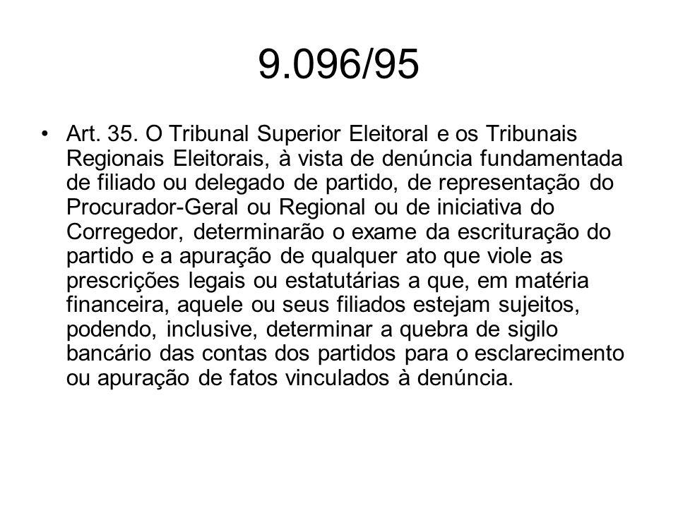 9.096/95 Parágrafo único.