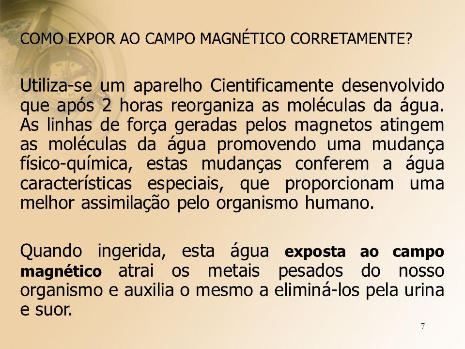 7 COMO EXPOR AO CAMPO MAGNÉTICO CORRETAMENTE.