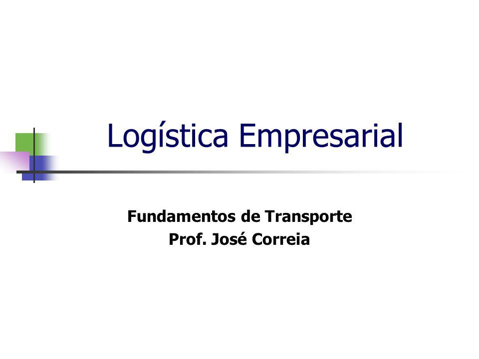 Logística Empresarial Fundamentos de Transporte Prof. José Correia