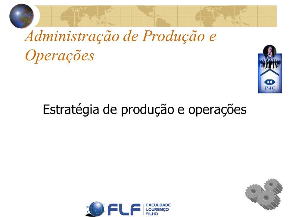 Administração de Produção e Operações Estratégia de produção e operações