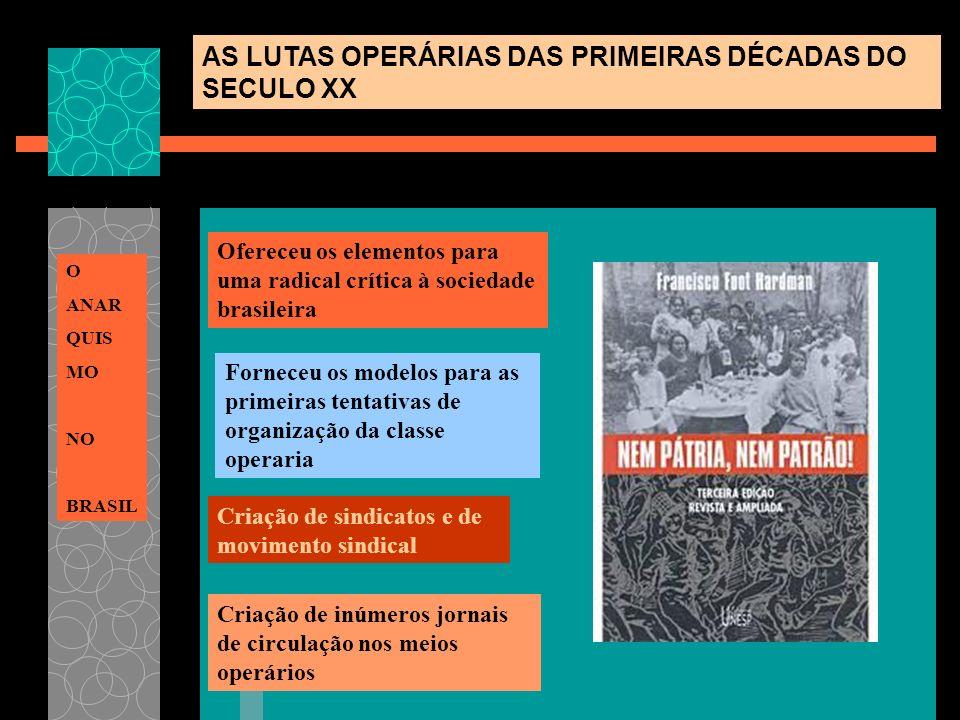 Ofereceu os elementos para uma radical crítica à sociedade brasileira Forneceu os modelos para as primeiras tentativas de organização da classe operar