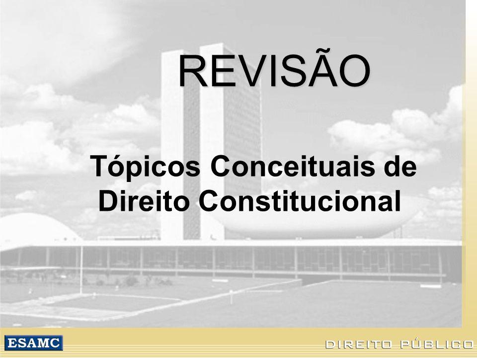 REVISÃO Tópicos Conceituais de Direito Constitucional