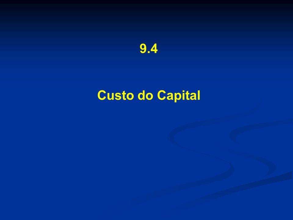 9.4 Custo do Capital