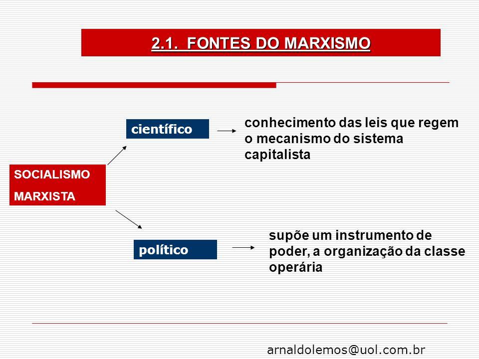 arnaldolemos@uol.com.br conhecimento das leis que regem o mecanismo do sistema capitalista supõe um instrumento de poder, a organização da classe oper