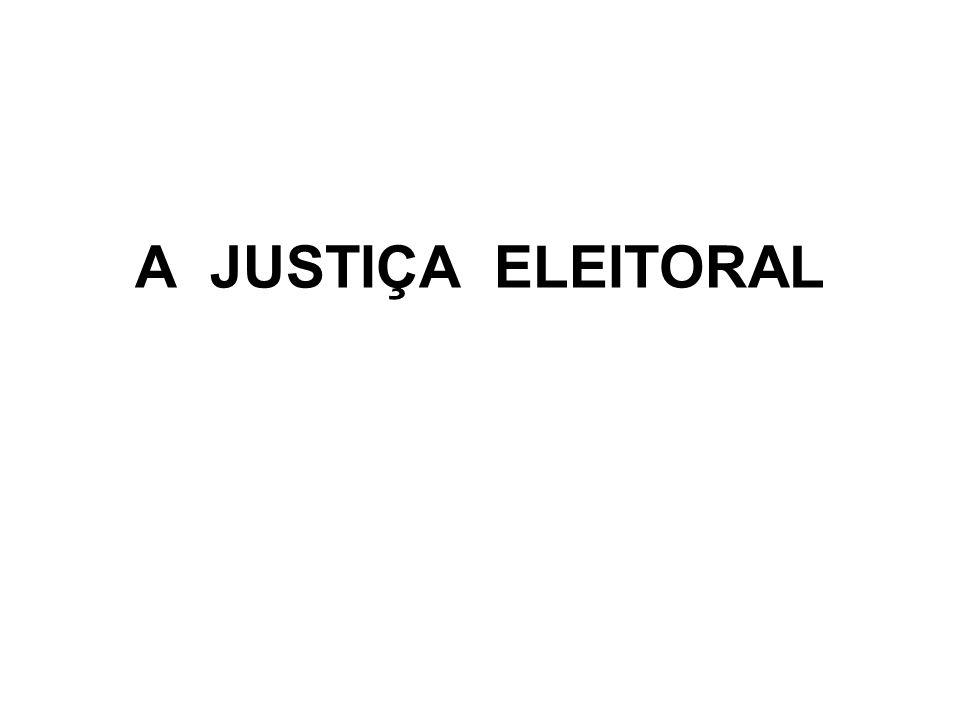 A JUSTIÇA ELEITORAL