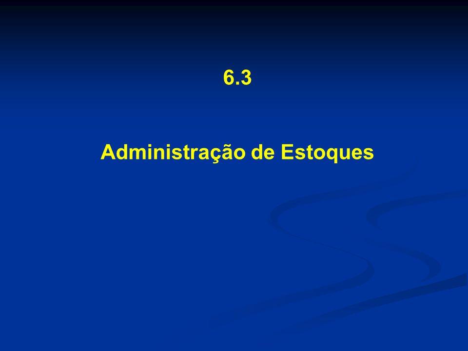 6.3 Administração de Estoques