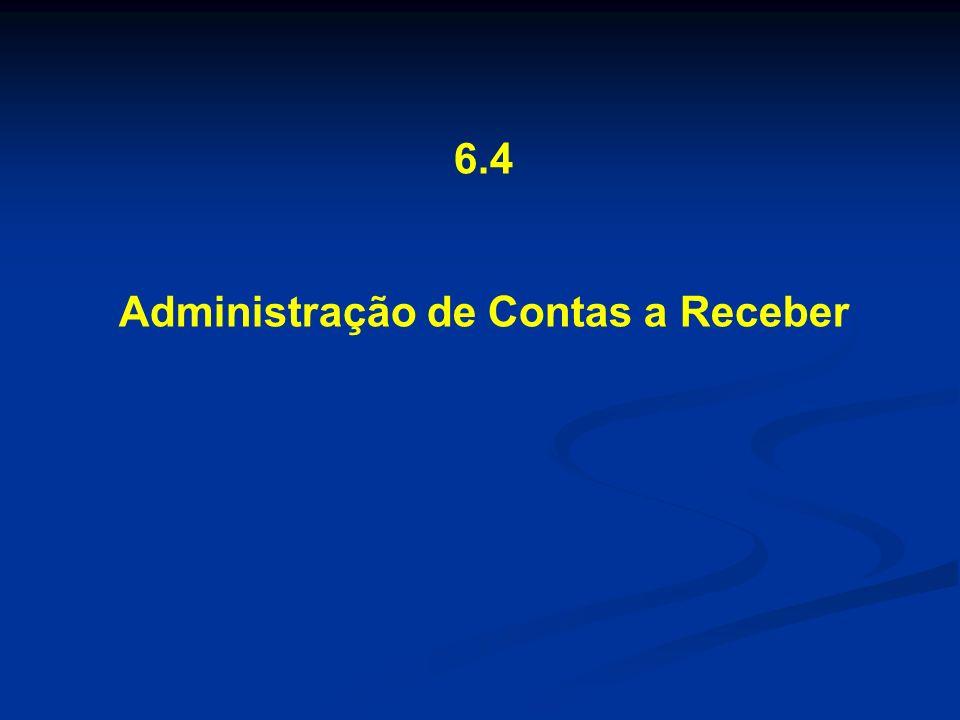 6.4 Administração de Contas a Receber
