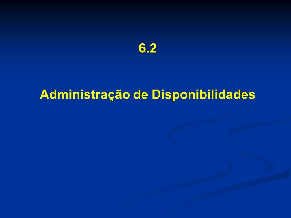 6.2 Administração de Disponibilidades