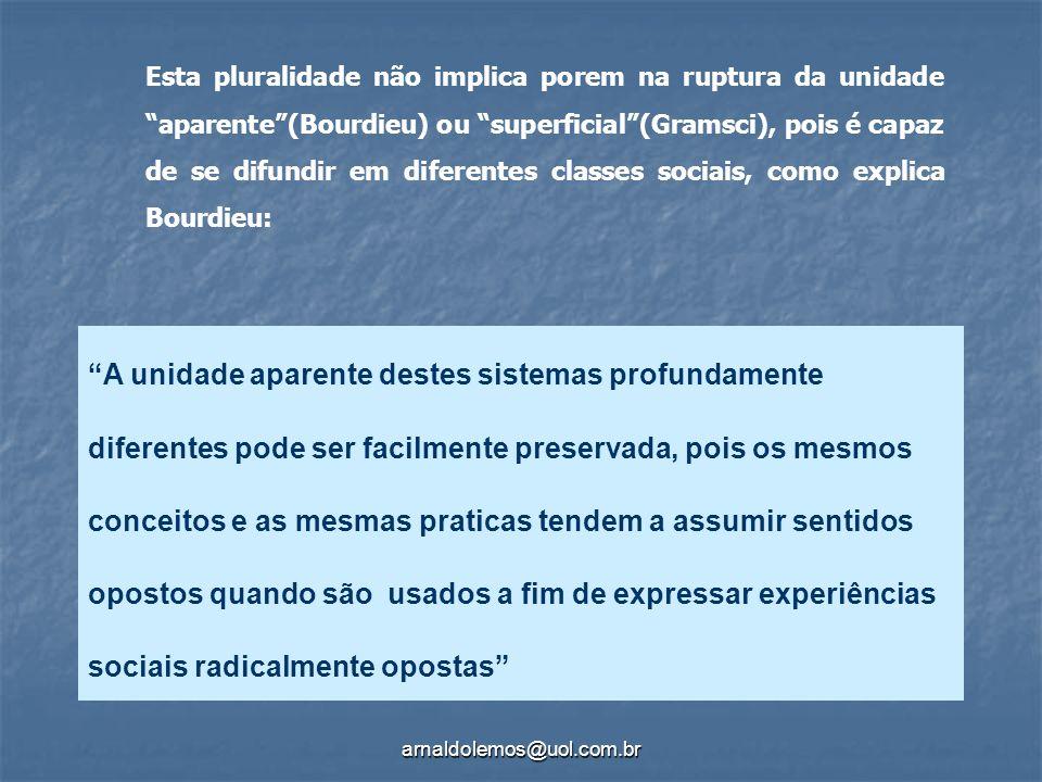 arnaldolemos@uol.com.br A unidade aparente destes sistemas profundamente diferentes pode ser facilmente preservada, pois os mesmos conceitos e as mesm