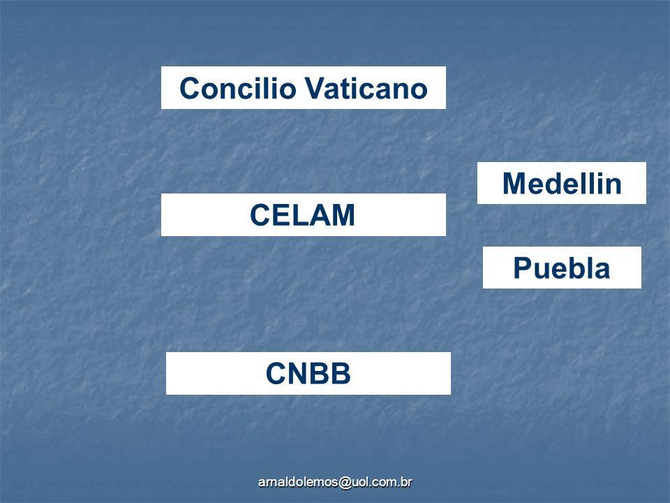 arnaldolemos@uol.com.br Concilio Vaticano Medellin Puebla CNBB CELAM